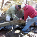 Installing a flume with Scott of the VCNP.