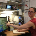 V. Morris runs system she helped develop to pull super-hi-res climate records out of ice cores, yeah! http://instaar.colorado.edu/research/projects/wais-divide-ice-coring/ #GirlsWithToys