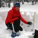 Snow sampling at Niwot Ridge