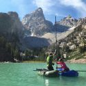 Coring Delta Lake in Grand Teton National Park with former INSTAAR Darren Larsen. Photo credit: Kory Kirchner