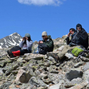 Summer fieldwork has begun, so we have new photos to share. Team Pika, June 2015: Diamond Nwaeze, Christian Prince, Jesse Marcus, and Max Plichta. The team was on Niwot Ridge at the start of the field season. Photo by Chris Ray.