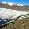 hike up the Canada Glacier via the moraine. G Rue