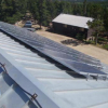 New solar panels power work at the Mountain Research Station