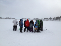 The group on the frozen surface of Gold Lake.