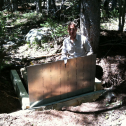 Joel Biederman and I installing a flume near C1.