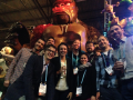 The Mountain Hydrology Group at AGU 2017 in New Orleans at Mardi Gras World. Photo: Alice Hill