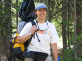 Tania Schoennagel totes all the gear to study wildfire in the Rockies http://connections.cu.edu/news/five-questions-for-tania-schoennagel/ #GirlsWithToys