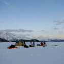 Base camp in the evening