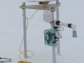 GPS antenna and AndyLogger equipment to measure air temperature and surface ablation