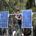 Solar panel repair, Niwot Ridge